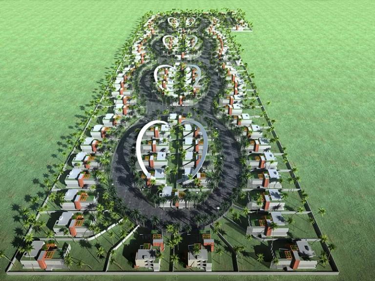 Danah neighbourhood - Quartier de Danah INJ ARCHITECTS