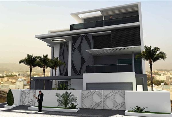 Architecture Villa moderne de luxe: Villa Résidentielle AIV par INJ ARCHITECTS