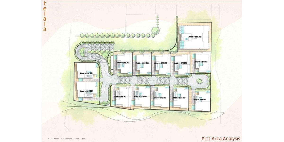 plan architectural arabe Awali Hills par INJ ARCHITECTS