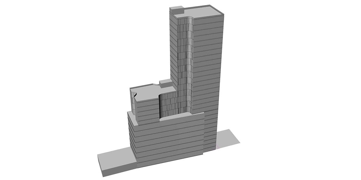 plan architecturale d'hôtel INJ ARCHITECTS