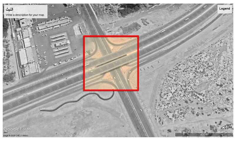 Conception paramétrique de pont entrée de la ville d'Al-Laith INJ ARCHITECTS