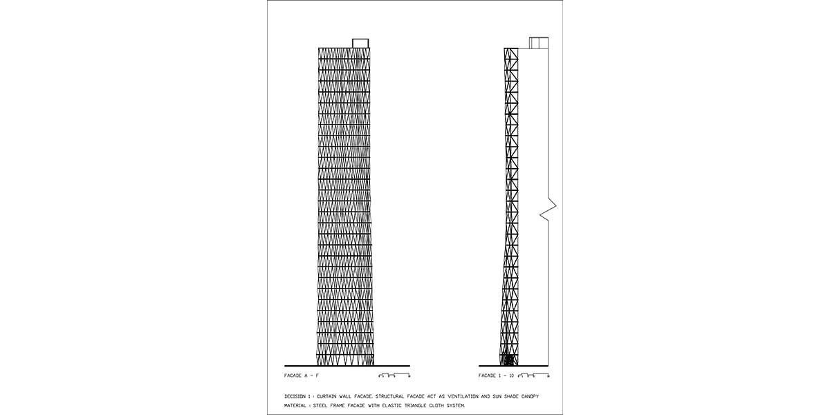 plan Façade INJ ARCHITECTS