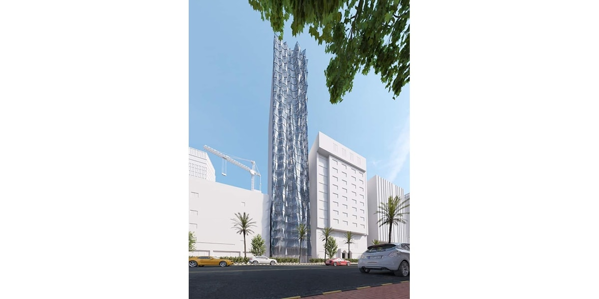 Azizia Hotel façade par INJ ARCHITECTS