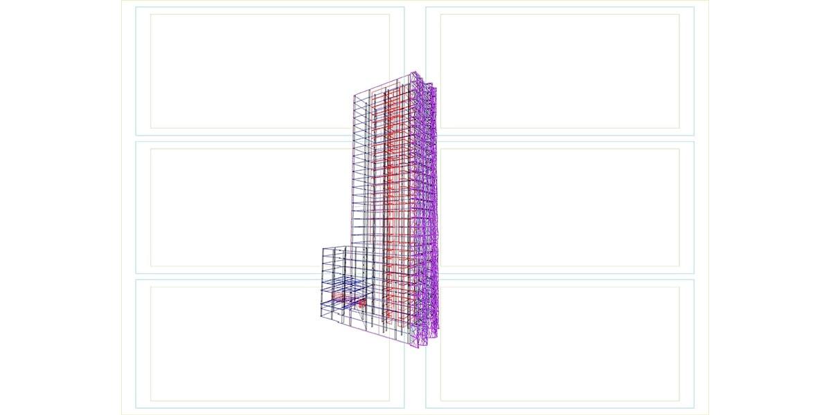 architecture et pla d'une Façade hotel INJ