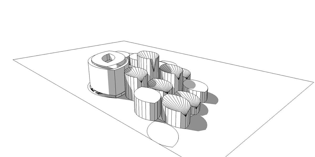 plan architectural pour la Conservatoire de musique de San Francisco INJ ARCHITECTS