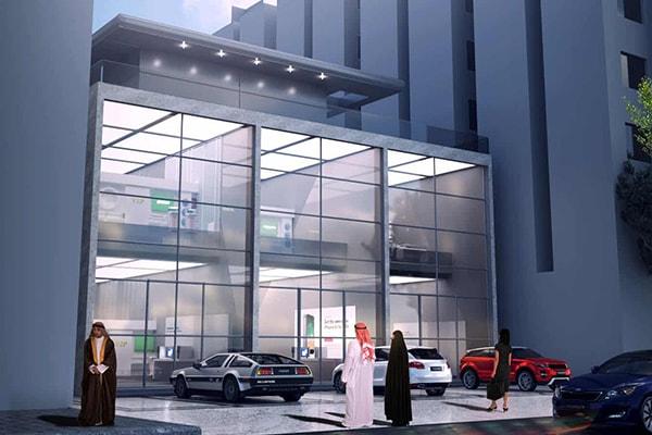 Architecture commerciale centre commercial Al Aziziyah par INJ ARCHITECTS