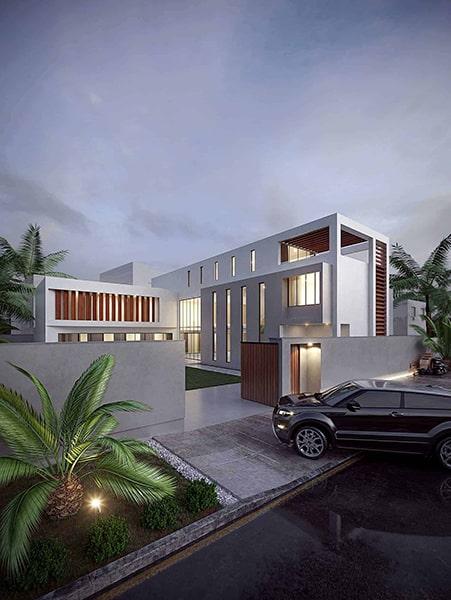 Villa haut de gamme Architecture | Villa MABK Al Basateen par INJ Team