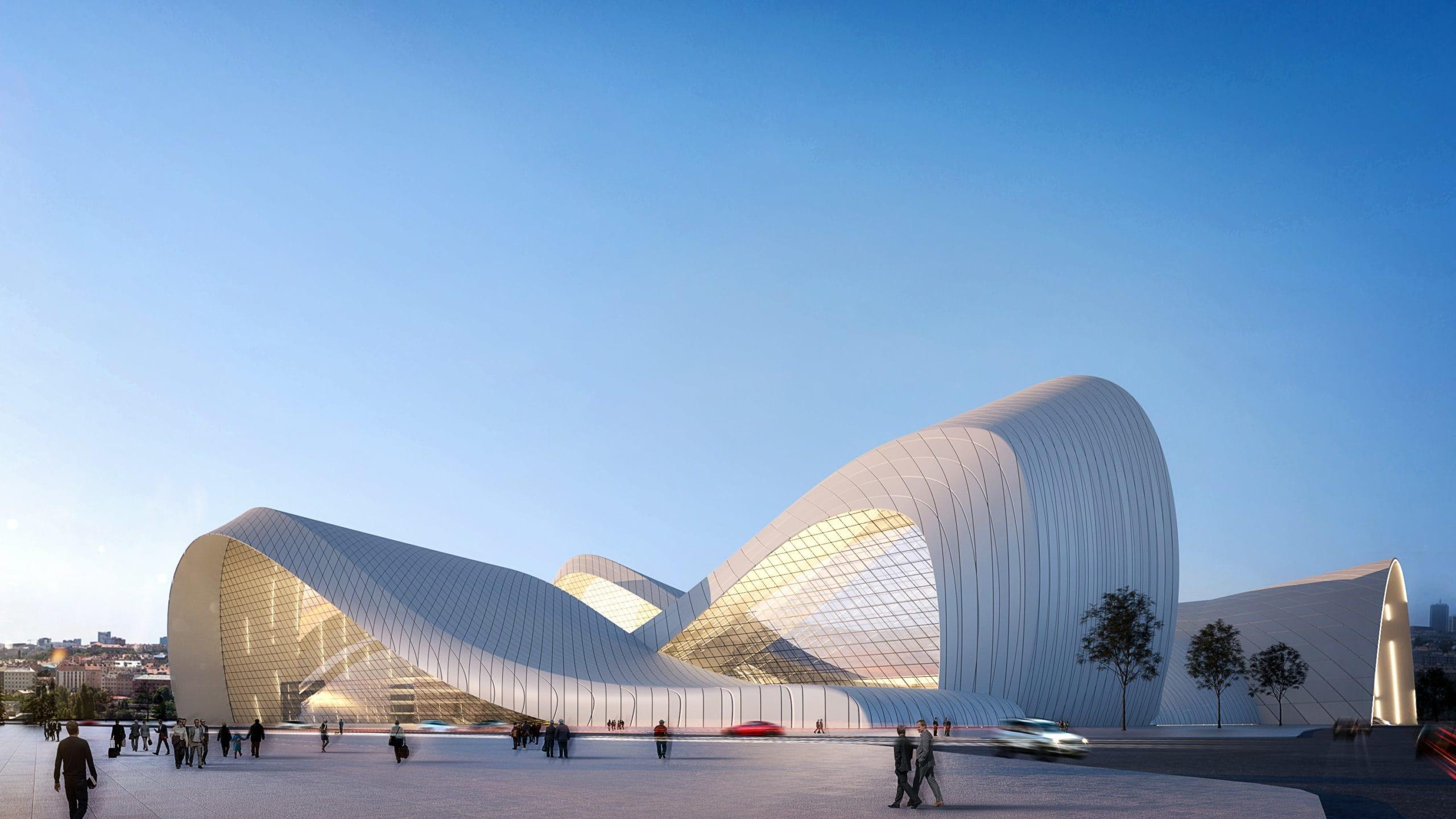 Conception architecturale de la gare de Xi'an INJ ARCHITECTS