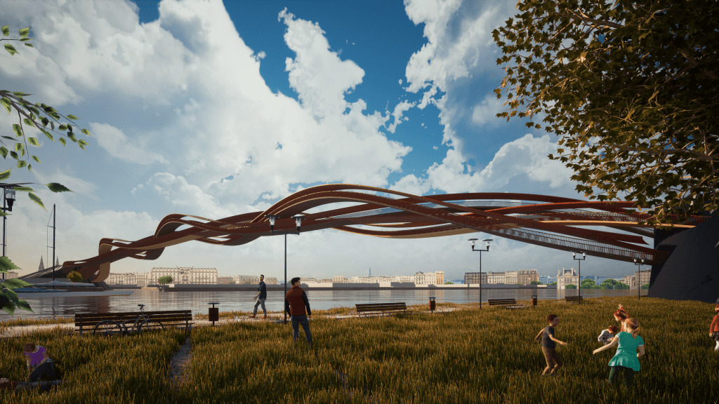 Pont Apollo: notre participation à la compétition | INJ ARCHITECTS
