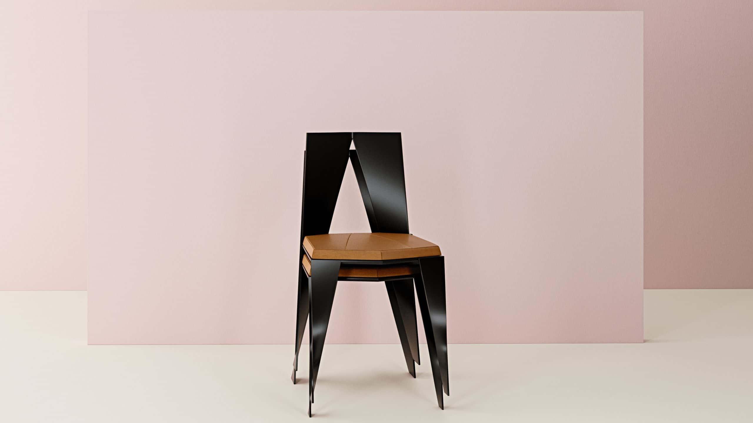 conception de la chaise IBRA INJ ARCHITECTS
