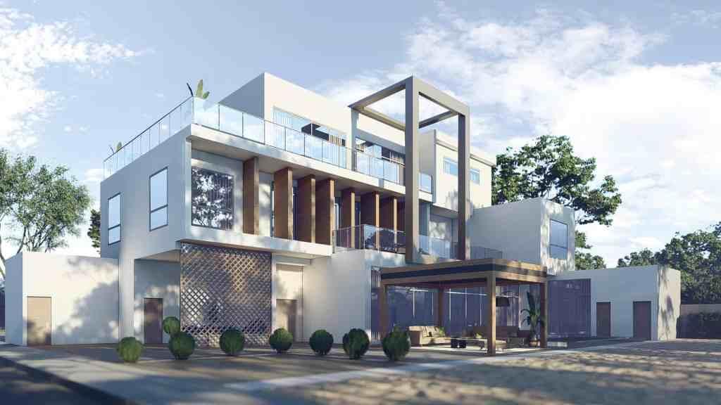 تصميم معماري جدة فيلا عائلية مودرن