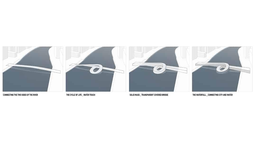 Pont incurvé INJ ARCHITECTS