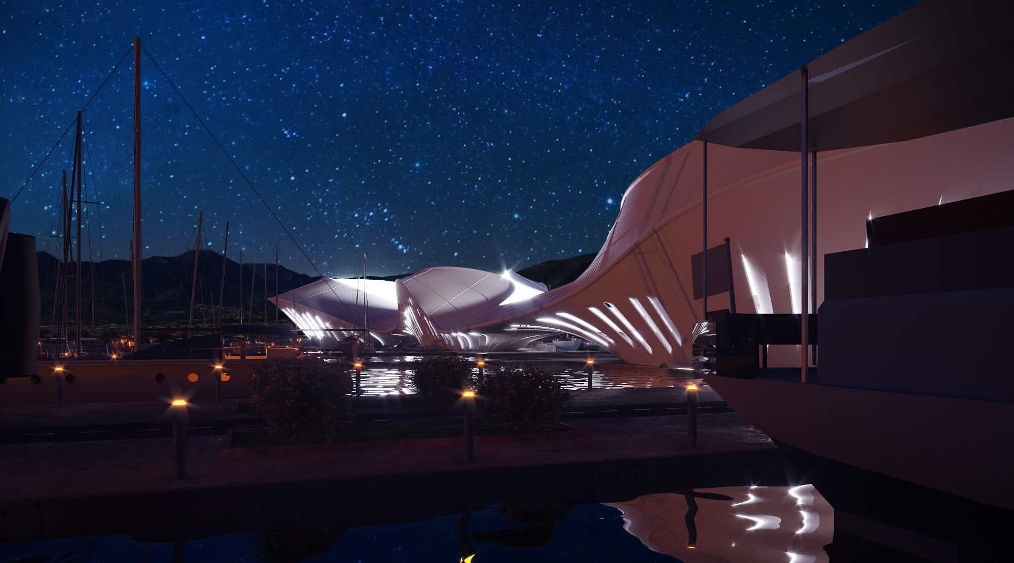 Projet de port en architecture INJ ARCHITECTS
