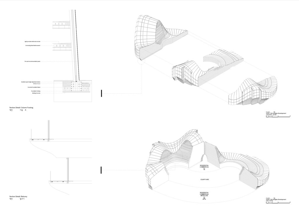 Conception architecturale INJarch HANGLAS YIN YANG